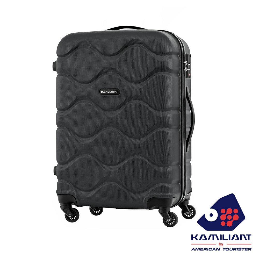 【福利品】Kamiliant卡米龍 Onda立體波浪防刮四輪硬殼TSA行李箱29吋(黑) 0