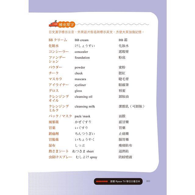 跟著Ryuuu TV學日文看日本:Ryu & Yuma的日語生活實境秀(附CD) 7