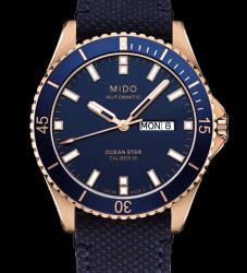 MIDO 美度 OCEAN STAR 動力儲存80小時 200米潛水機械錶 M0264303604100 藍 42mm