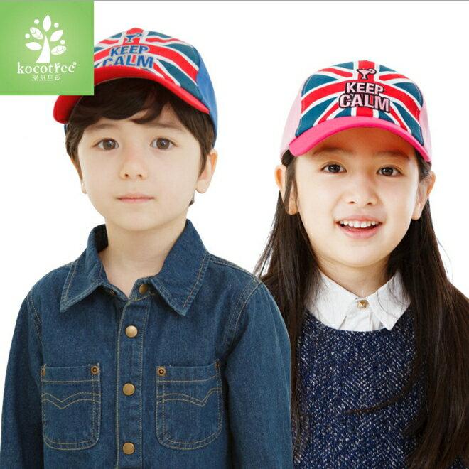 WallFree窩自在★時尚經典米字旗KeepCalm兒童造型休閒鴨舌棒球帽