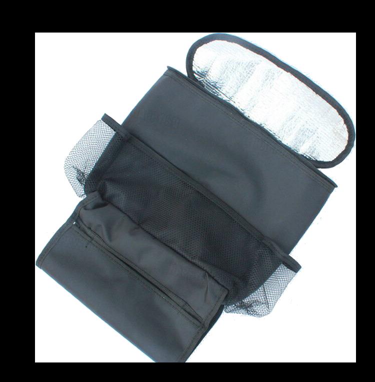 現貨【保溫保冰/大容量】汽車椅背掛袋 車上置物袋 掛袋  汽車置物架 車內收納袋-黑【AAA6158】