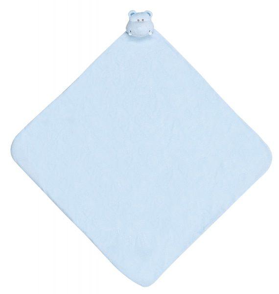 『121婦嬰用品館』美國Angel Dear 大頭動物嬰兒毛毯 河馬(藍)AD2041(此商品售出不做退換) 0