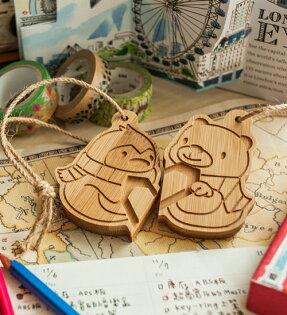 幸福森林:北極熊與企鵝-行李吊牌