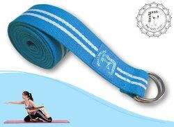 Fun Sport yoga 力樂美棉織瑜珈伸展帶(鐵扣環) - 藍色