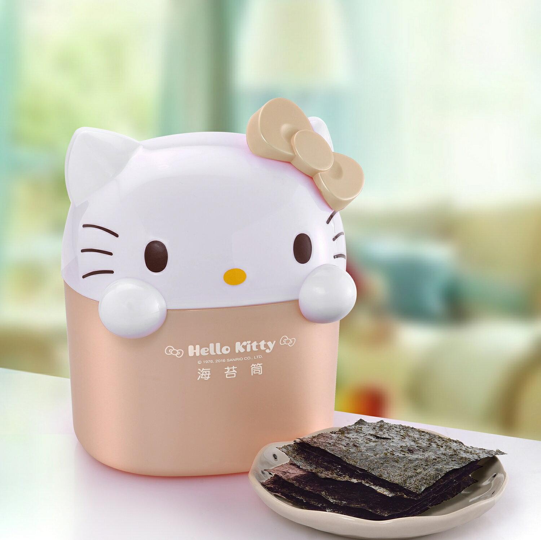 Hello Kitty 凱蒂貓 海苔歡樂筒-玫瑰金 元本山海苔 原廠獨家生產販售