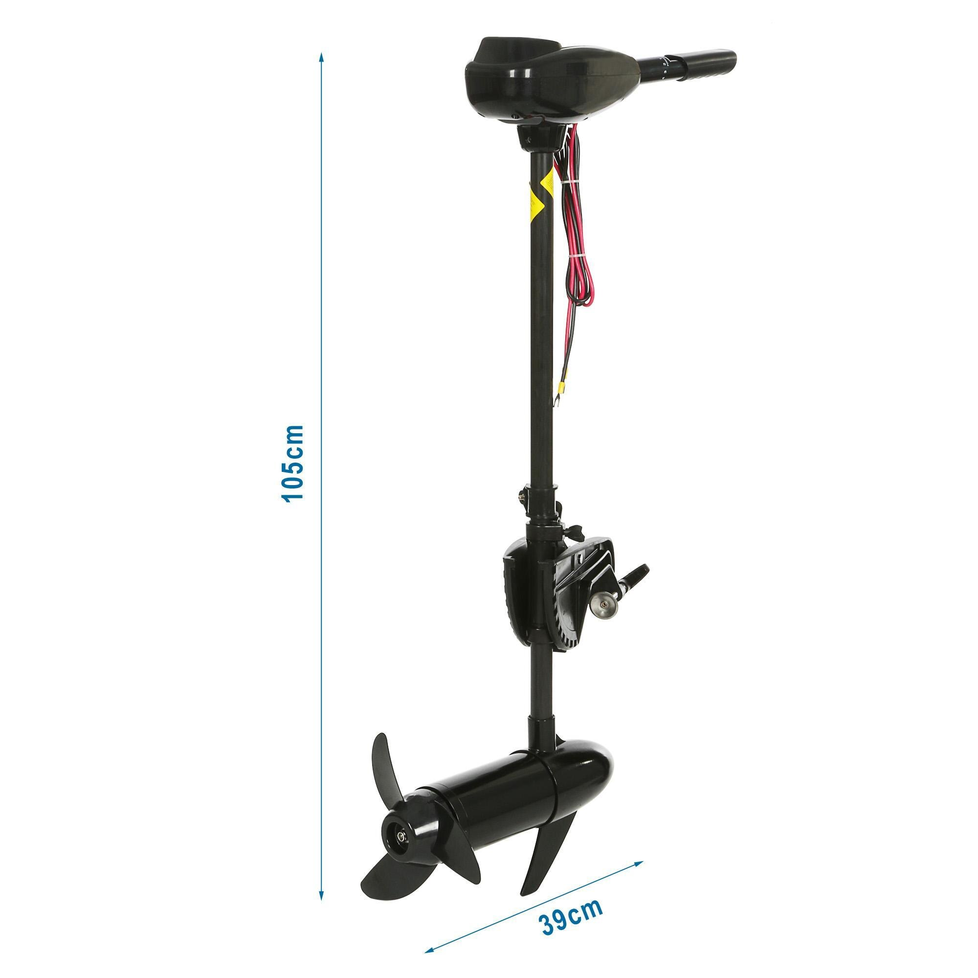 Black 12V 55 Pound Thrust Ship Boat Electric Trolling Motor Hand Control 4