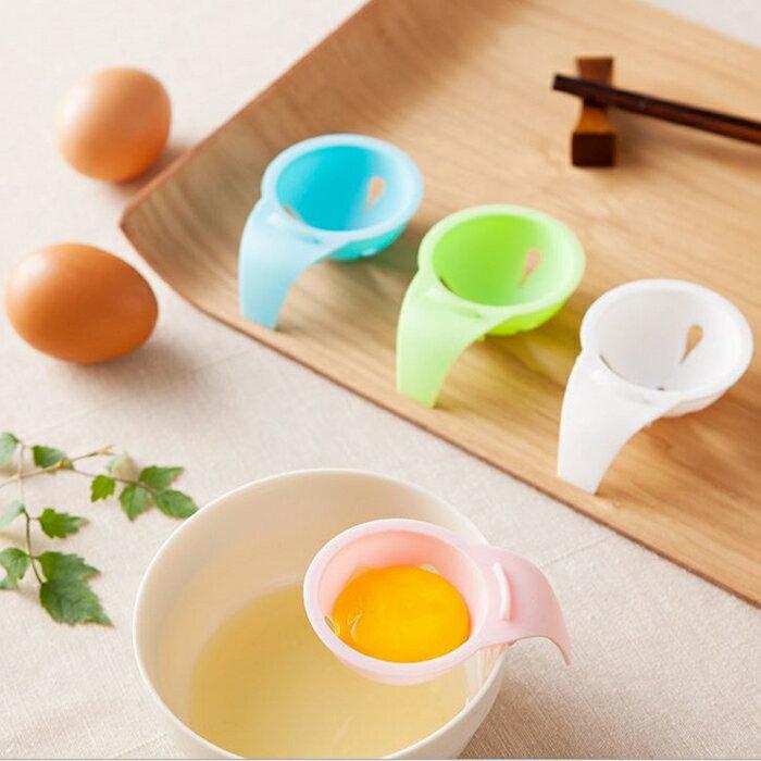 [Hare.D] 短柄鸡蛋分离器 分蛋器 蛋白 蛋清 蛋黄 分离器 隔离器 滤蛋器 不挑色