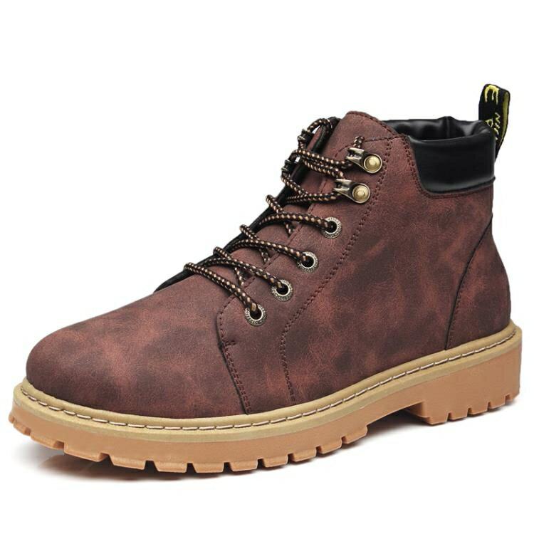 男靴 馬丁靴男潮鞋高幫英倫風男士中幫工裝靴子2020馬丁鞋透氣夏季男鞋