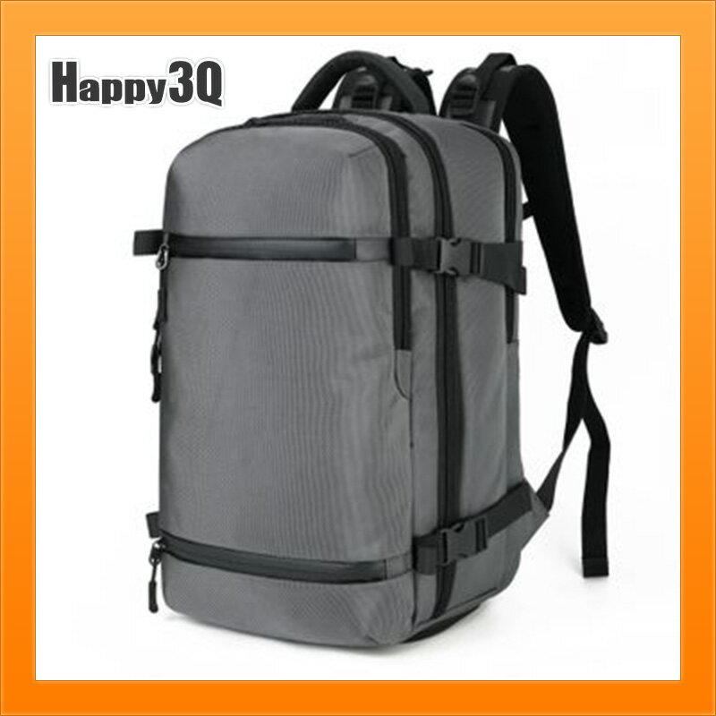 男生雙肩包旅行包後背包防潑水大容量包包筆電包電腦後背包-灰/黑/藍/迷彩【AAA5121】