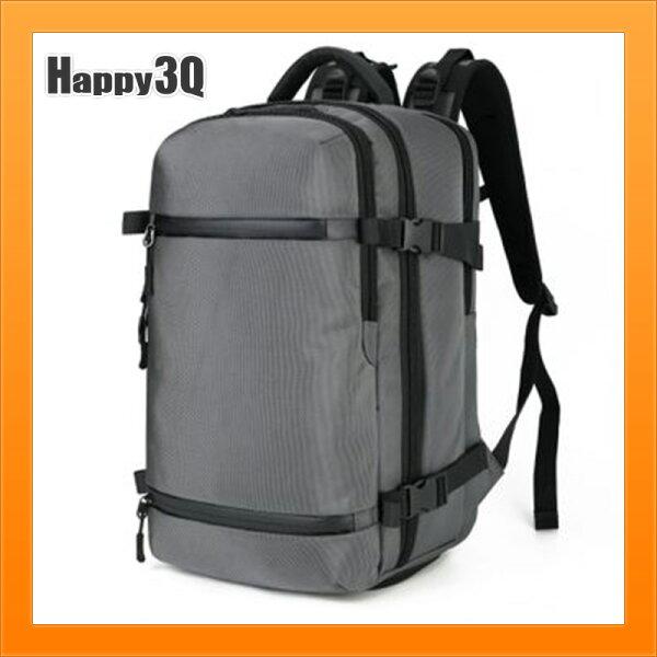 男生雙肩包旅行包後背包防潑水大容量包包筆電包電腦後背包-灰黑藍迷彩【AAA5121】