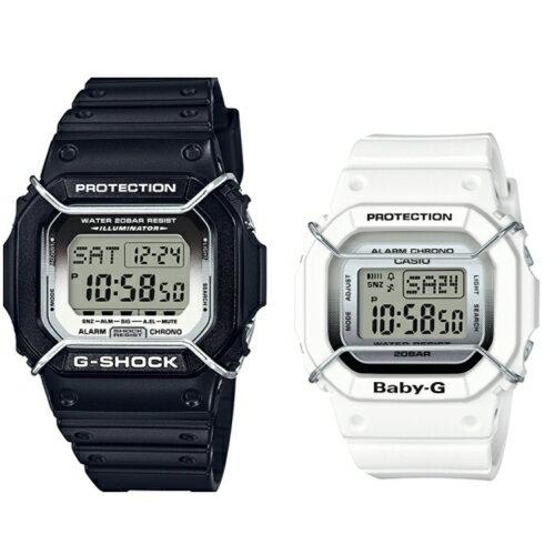 CASIO G-SHOCK BABY-G/潮流尖端運動腕對錶/LOV-16B-1DR