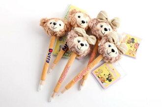=優生活=Disney迪士尼duffy達菲熊shelliemay熊熊卡通毛絨筆 原子筆 可愛大頭筆