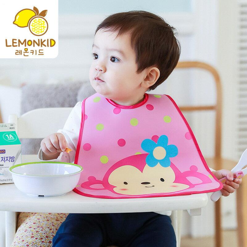 lemonkid韓國新款兒童圍嘴環保無味