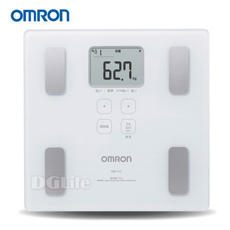 OMRON 歐姆龍 體脂計 HBF-217 白色 HBF217*加贈保冷袋*