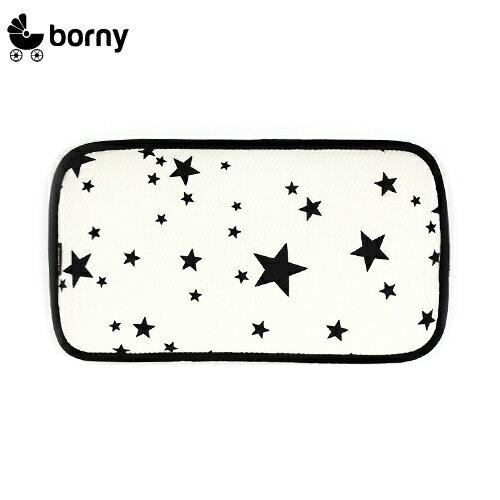 韓國【 Borny 】 3D立體酷涼透氣幼兒枕 (白星星)(6個月~12歲皆適用) - 限時優惠好康折扣