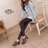★399免運★格子舖*【KW3366】MIT台灣製 韓版質感皮革 舒適魔鬼氈穿脫 舒適粗高跟 牛津踝靴短靴 2色 2