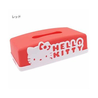 【蜜多麗夢想本舖】日本 三麗鷗 Kitty 面紙盒 日本製 紅 (約26.5×15×7)