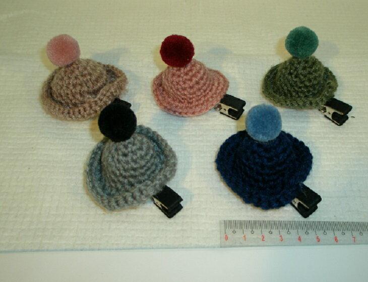 韓國製 毛線 帽子 毛帽 髮夾 夾子 髮飾 女裝 女 女生