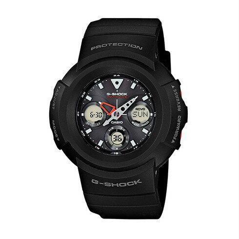 CASIO G-SHOCK AWG-M510-1A太陽能六局電波復古腕錶/47.6mm