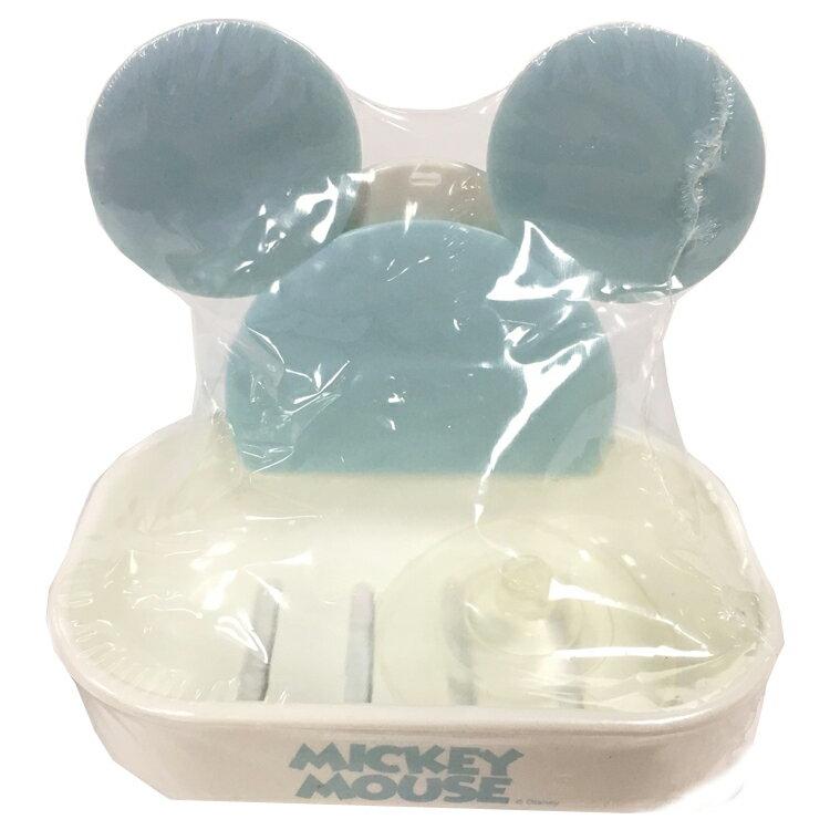 韓國製 迪士尼 米奇 吸盤式 肥皂盤 肥皂架 肥皂盒 菜瓜布 香皂 瀝水架 置物架 韓國進口正版 096382