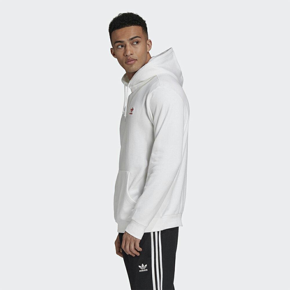 Adidas Originals ESSENTIALS 男裝 長袖 連帽 帽T 袋鼠口袋 刺繡 純棉 白【運動世界】GD2561
