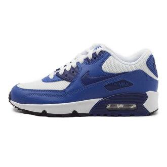 特價 出清 NIKE AIR MAX 90 MESH GS 女鞋 大童 慢跑 休閒 氣墊 白 藍 【運動世界】 833418-105