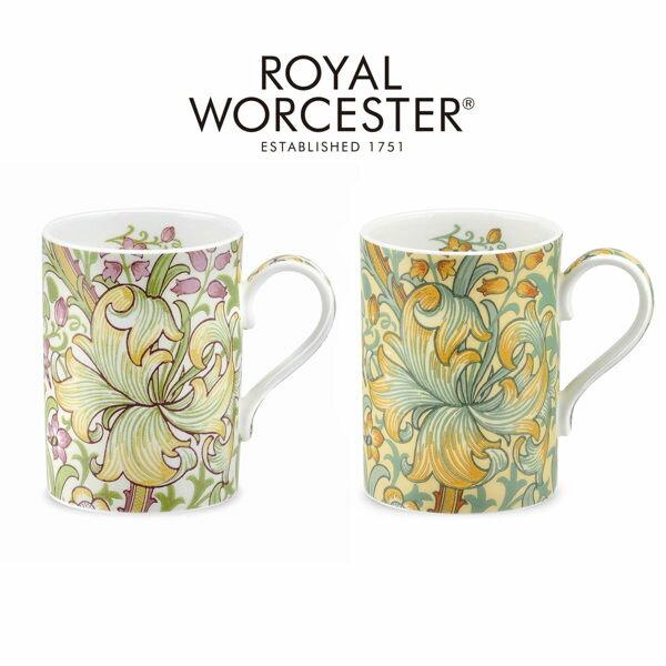 英國Morris&Co設計款骨瓷馬克杯禮盒組-百合(2色可選)