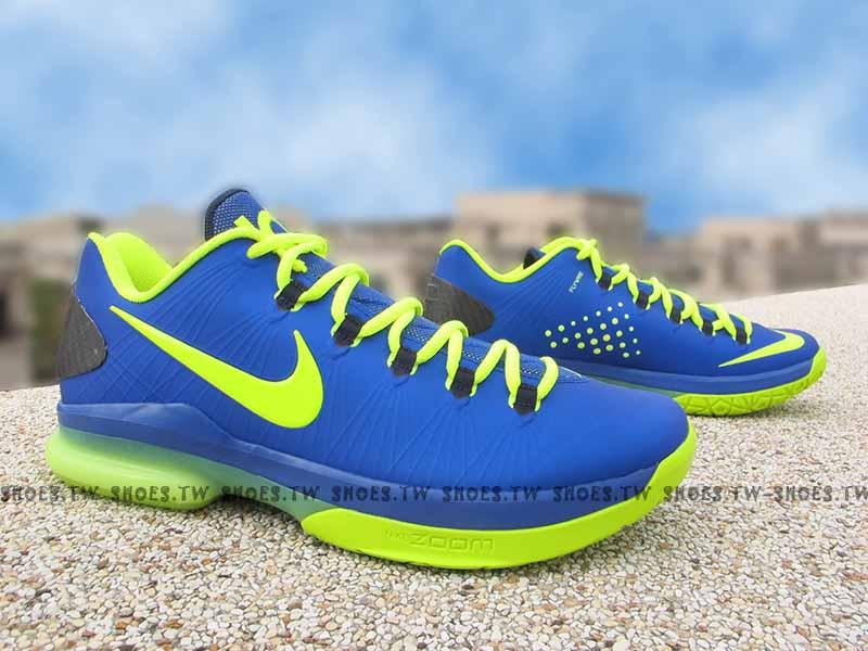 [27.5cm]《驚爆5折》Shoestw【583386-400】NIKE KD V ELITE 籃球鞋 全新無瑕疵 藍螢光綠