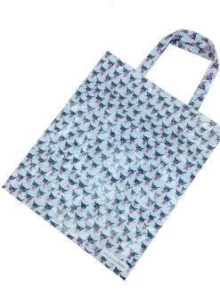 【真愛日本】16101200091亮膠防水提袋大-壞東西藍  Aranzi Aronzo 阿朗基 阿龍佐 收納袋 外出袋 手提袋