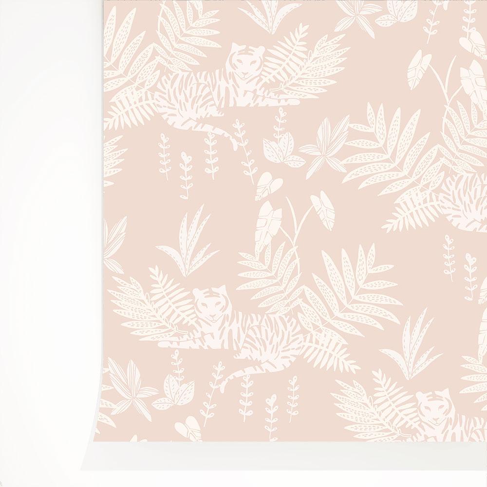 法國壁紙  動物紋 綠色植物紋 兒童房壁紙 2色可選 Season Paper 壁紙 1