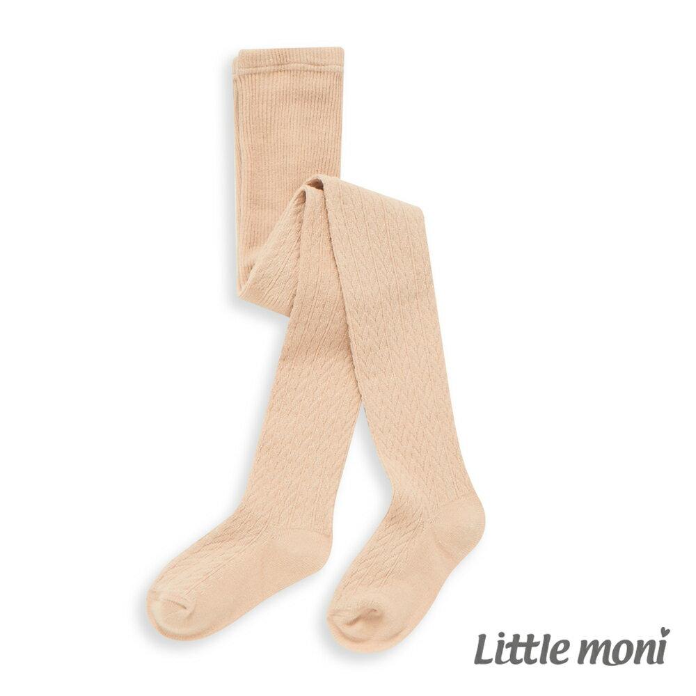 Little Moni 氣質織紋褲襪-米色