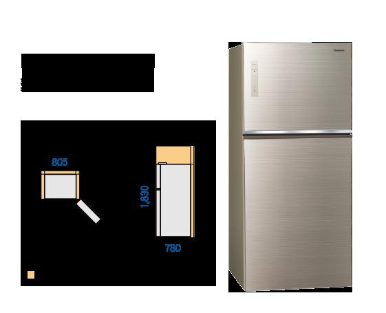 Panasonic國際牌 650公升 玻璃雙門 變頻冰箱 NR-B659TG-N 1