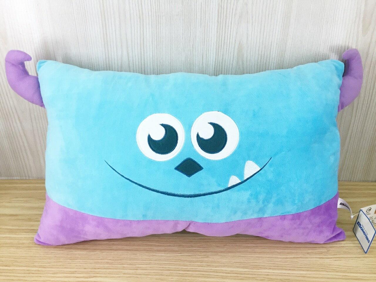 【真愛日本】15121700025 大臉雙人枕-毛怪  迪士尼 星際寶貝 史迪奇 抱枕 靠枕 枕頭 娃娃