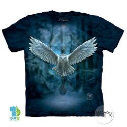 【摩達客】(預購) 美國進口The Mountain 喚之貓頭鷹 純棉環保短袖T恤