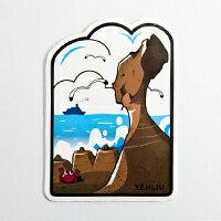 【〒台灣神】台灣旅行明信片。野柳女王頭★GRAPHIC POST CARD★