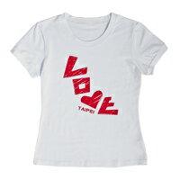 T-Shirt 白色【〒台灣神】 台灣景點 LOVE台北 女性 短袖