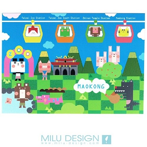 【MILU DESIGN】+PostCard>> 遊戲貓纜明信片 ★MAOKONG GAME★