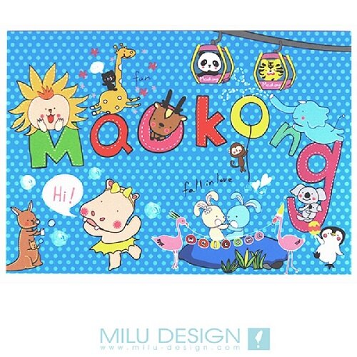 【MILU DESIGN】+PostCard>> 派對貓纜明信片 ★MAOKONG PARTY★
