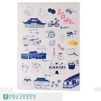 【〒台灣神】 拓印藍色台北明信片 ★TAIPEI COLOR POST CARD★ 0