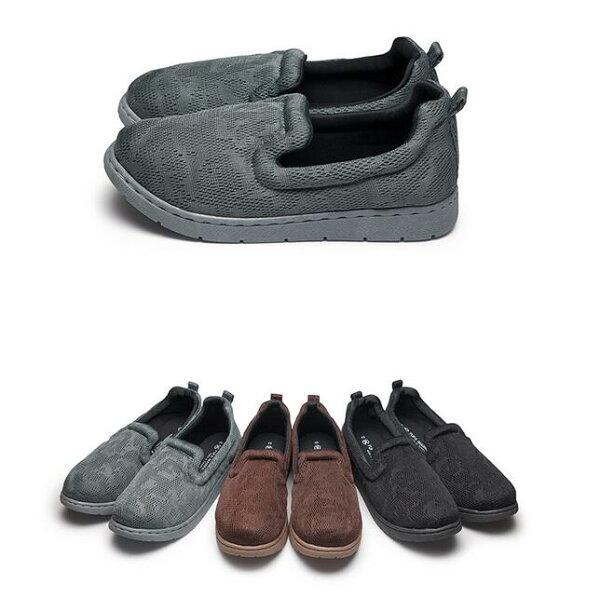 【Mystyle】富發牌1BP29透氣舒適懶人鞋(黑.咖.灰)22.5-25.5號-任兩雙免運