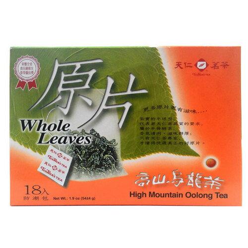 天仁茗茶 原片 高山烏龍茶 54g (18入)/盒【康鄰超市】