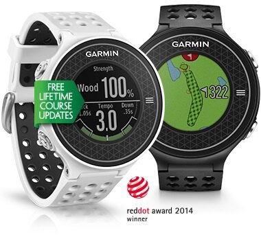 GARMIN Approach S6 極輕薄高爾夫GPS腕錶(黑色 / 白色)    揮桿指標分析.果嶺指向輔助 - 限時優惠好康折扣