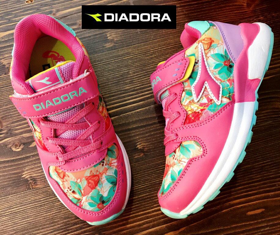 ~剪標品 ~19號~義大利國寶鞋~DIADORA迪亞多納 童款碎花輕量 慢跑鞋