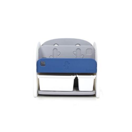 【特價$3420】韓國 iFam 深藍色書架收納組(白色收納盒x2)