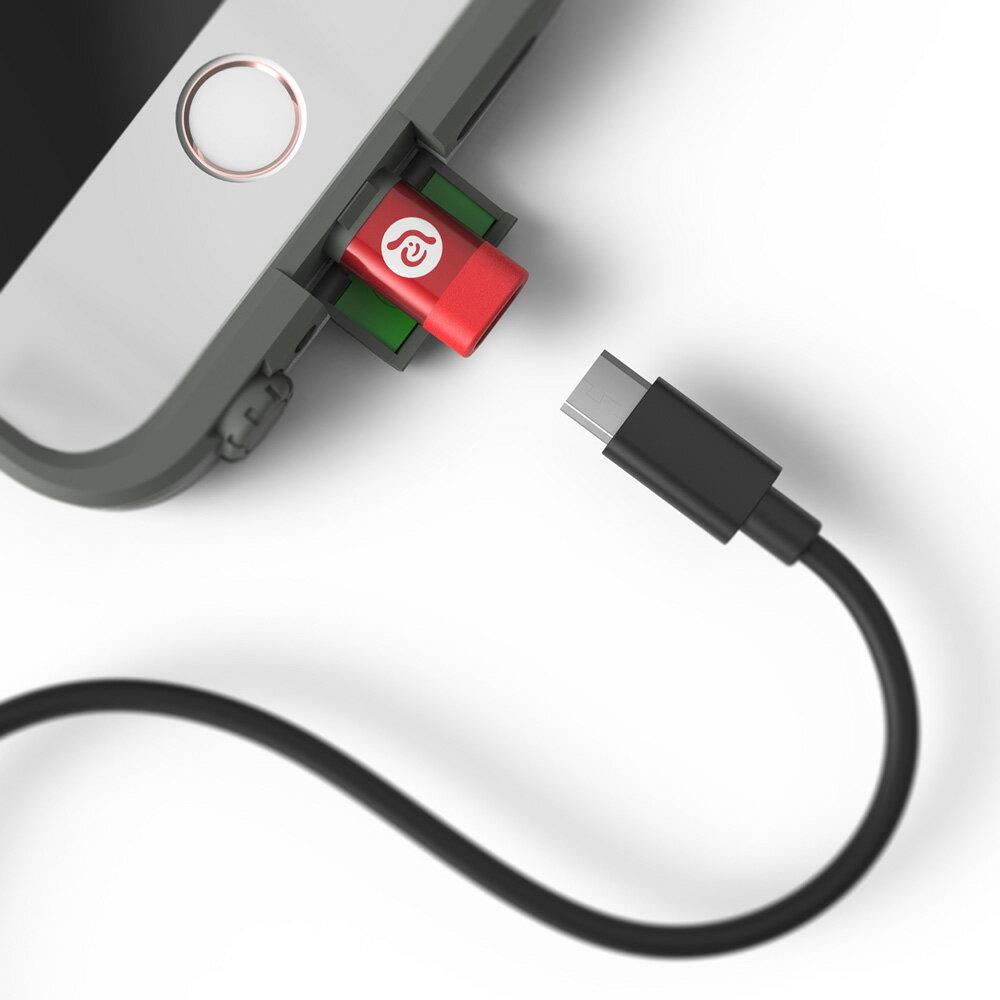 PeAk A1 Lightning 對 Micro USB 轉接器(紅色 8折價) 9