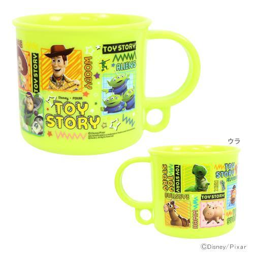 【真愛日本】18013000026 日本製塑膠杯-TOYS綠 皮克斯 玩具總動員 胡迪 三眼怪 水杯 塑膠杯 杯子
