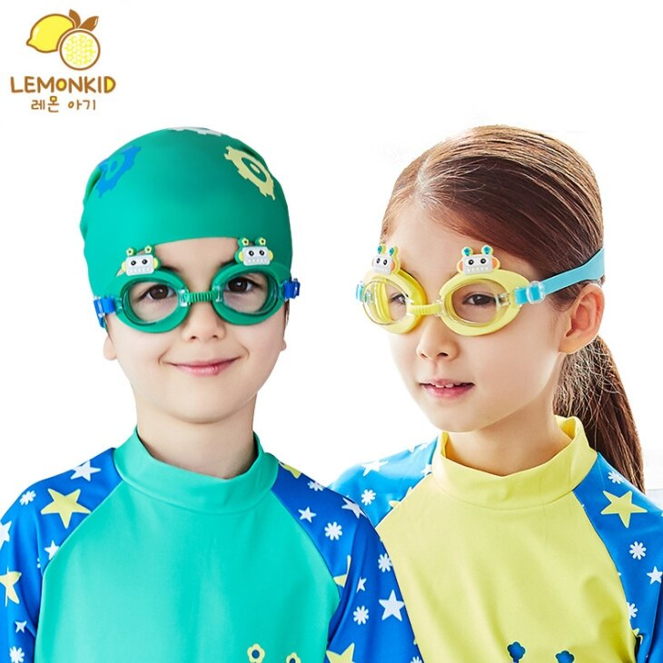 Lemonkid◆可愛機器人卡通造型兒童泳鏡防水護目鏡