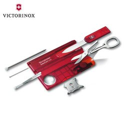 VICTORINOX 瑞士維氏 SwissCard Litle Ruby卡片型瑞士刀0.7300.T / 城市綠洲 (多功能、簡易工具、登山露營、旅遊、居家生活)