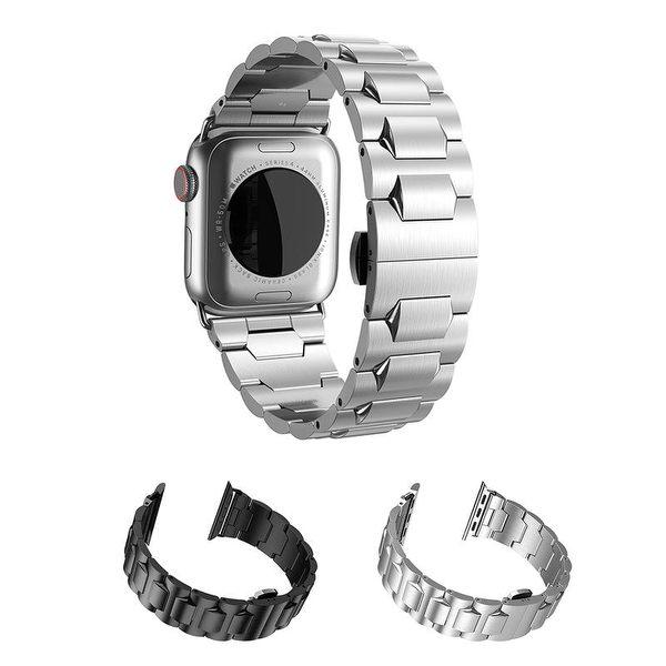 【愛瘋潮】贈送拆錶帶工具套裝 hoco Apple Watch 4   4代 (38/40mm) 格朗鋼錶帶-黑色款