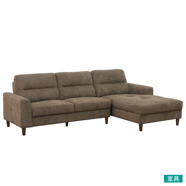 宜得利家居:◎布質左躺椅L型沙發OSLODBRNITORI宜得利家居